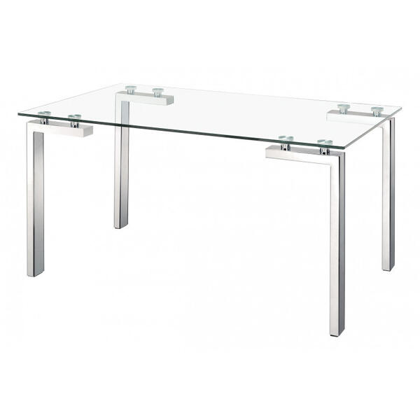 Roca Dining Table Polished Stainless Steel