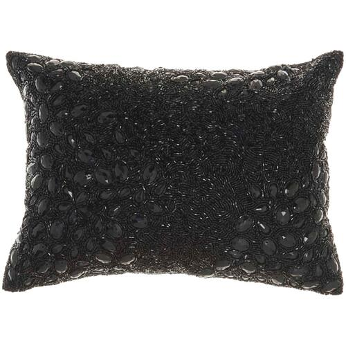 "Luminescence Z5000 Black 10"" X 14"" Throw Pillow"