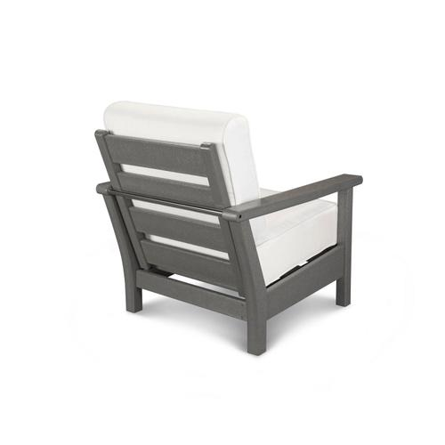 Slate Grey & Natural Harbour Deep Seating Chair