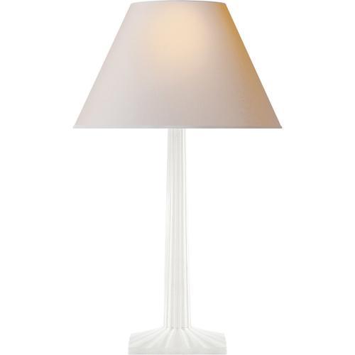 Visual Comfort - E. F. Chapman Strie 30 inch 100.00 watt Plaster White Decorative Table Lamp Portable Light