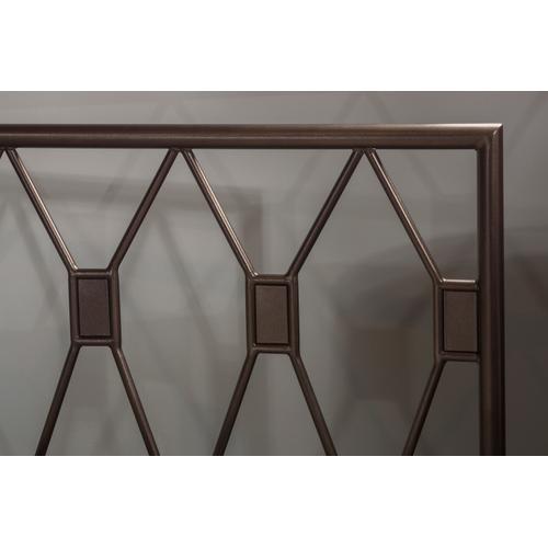 Tripoli Twin Headboard With Frame, Metallic Brown