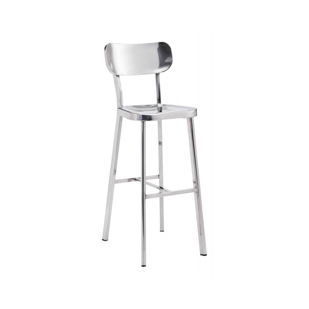Winter Bar Chair Polished Stainless Steel