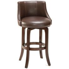 See Details - Napa Valley Bar Stool - Dark Brown Bonded Leather