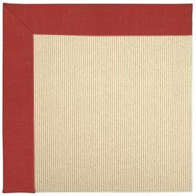 Creative Concepts-Beach Sisal Dupione Crimson - Rectangle - Custom
