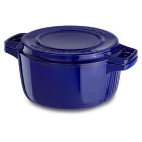 Professional Cast Iron 4-Quart Casserole Fiesta Blue