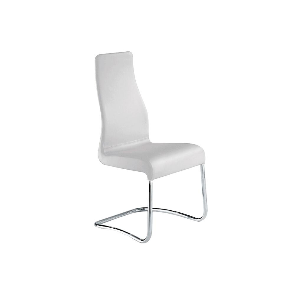 The Florence Italian White Leather Dining Chairs