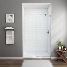 See Details - Frameless Shower Screen - 48 Inch  American Standard - Silver Shine