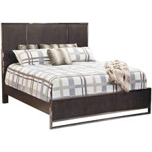 City Scape Dark Ceruse Queen Bed