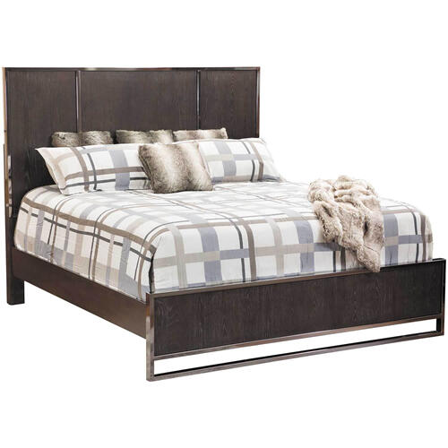 City Scape Dark Ceruse Queen Bed