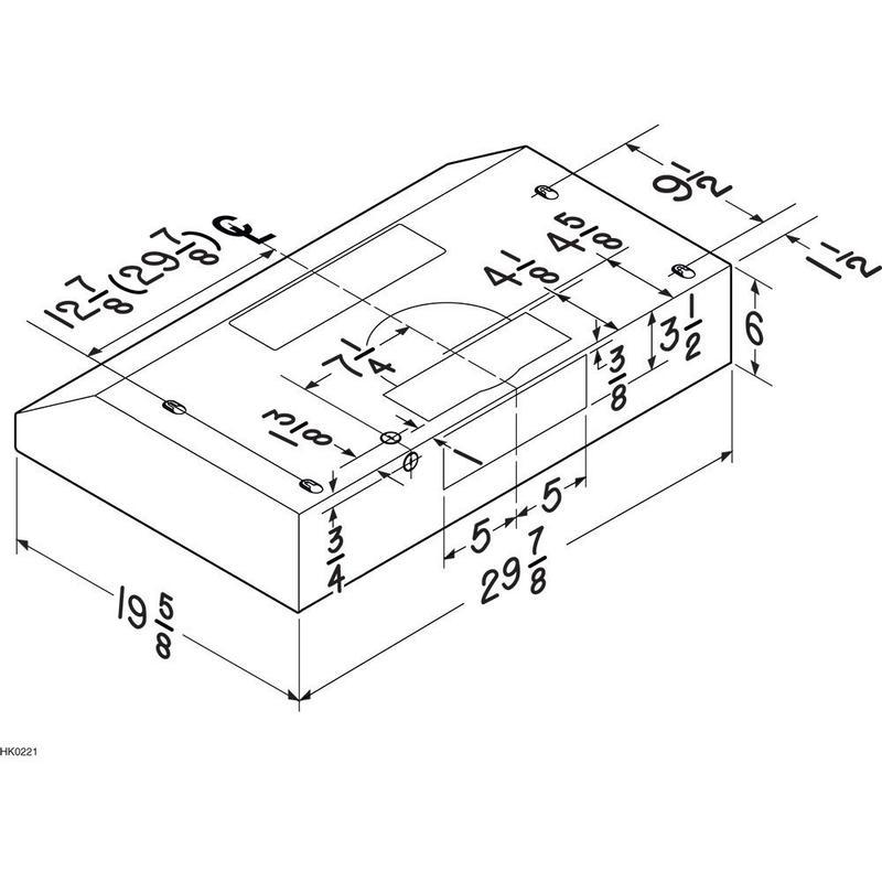 Broan® 30-Inch Convertible Under-Cabinet Range Hood, 250 CFM, Black
