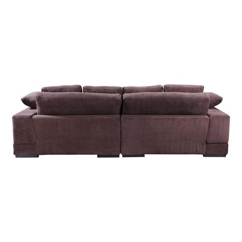 Moe's Home Collection - Plunge Sectional Dark Brown