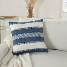 """Outdoor Pillows Vj088 Navy 18"""" X 18"""" Throw Pillow"""
