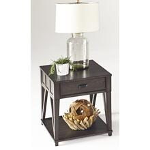 Rectangular End Table - Midnight Oak Finish