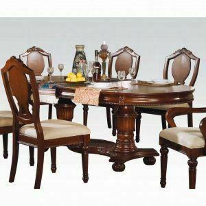 ACME Classique Dining Table w/Double Pedestal - 11830 KIT - Cherry