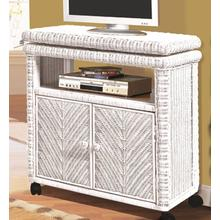 Santa Cruz Low TV Stand - White Finish