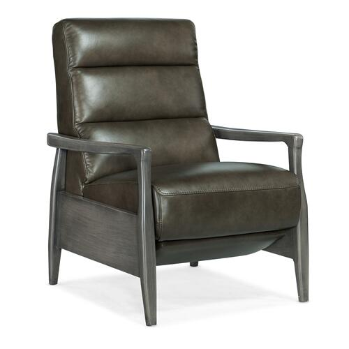 Hooker Furniture - Marlin Pushback Recliner with Exposed Wood Arm