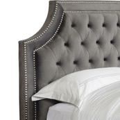 JASMINE - FLANNEL Queen Headboard 5/0 (Grey)