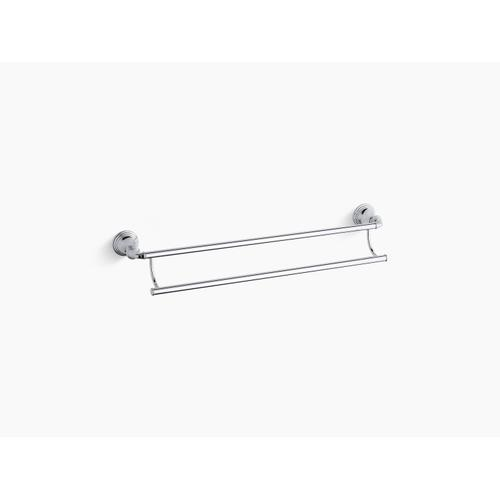 """Oil-rubbed Bronze 24"""" Double Towel Bar"""