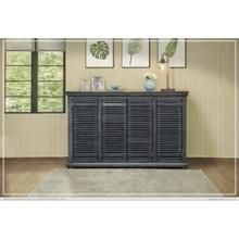 "67"" Parota Wood Console w/ 4 push Doors"