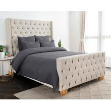 Danica Charcoal 4Pc King Quilt Set