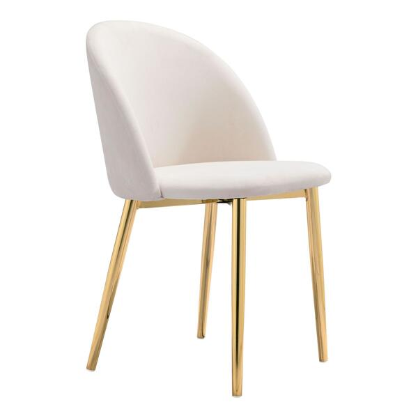See Details - Cozy Dining Chair Cream