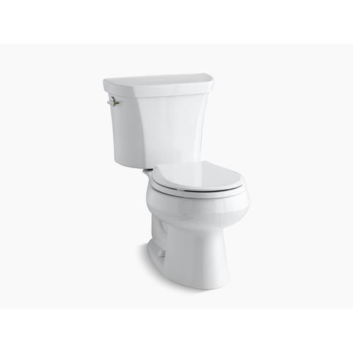Kohler - White Two-piece Round-front Dual-flush Toilet