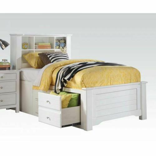 ACME Mallowsea Full Bed w/Storage Rail - 30415F - White