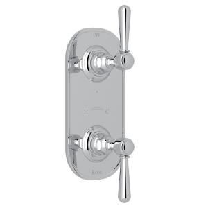 "Polished Chrome Verona 1/2"" Thermostatic/Diverter Control Trim with Verona Series Only Metal Lever Product Image"