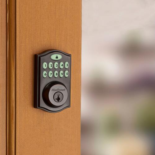 Kwikset - 914 SmartCode Traditional Electronic Deadbolt with Zigbee Technology - Venetian Bronze