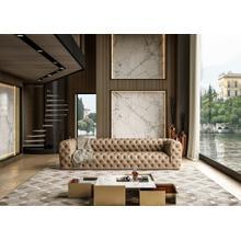 See Details - Coronelli Collezioni Ellington - Italian Beige Nubuck Leather 4-Seater Sofa