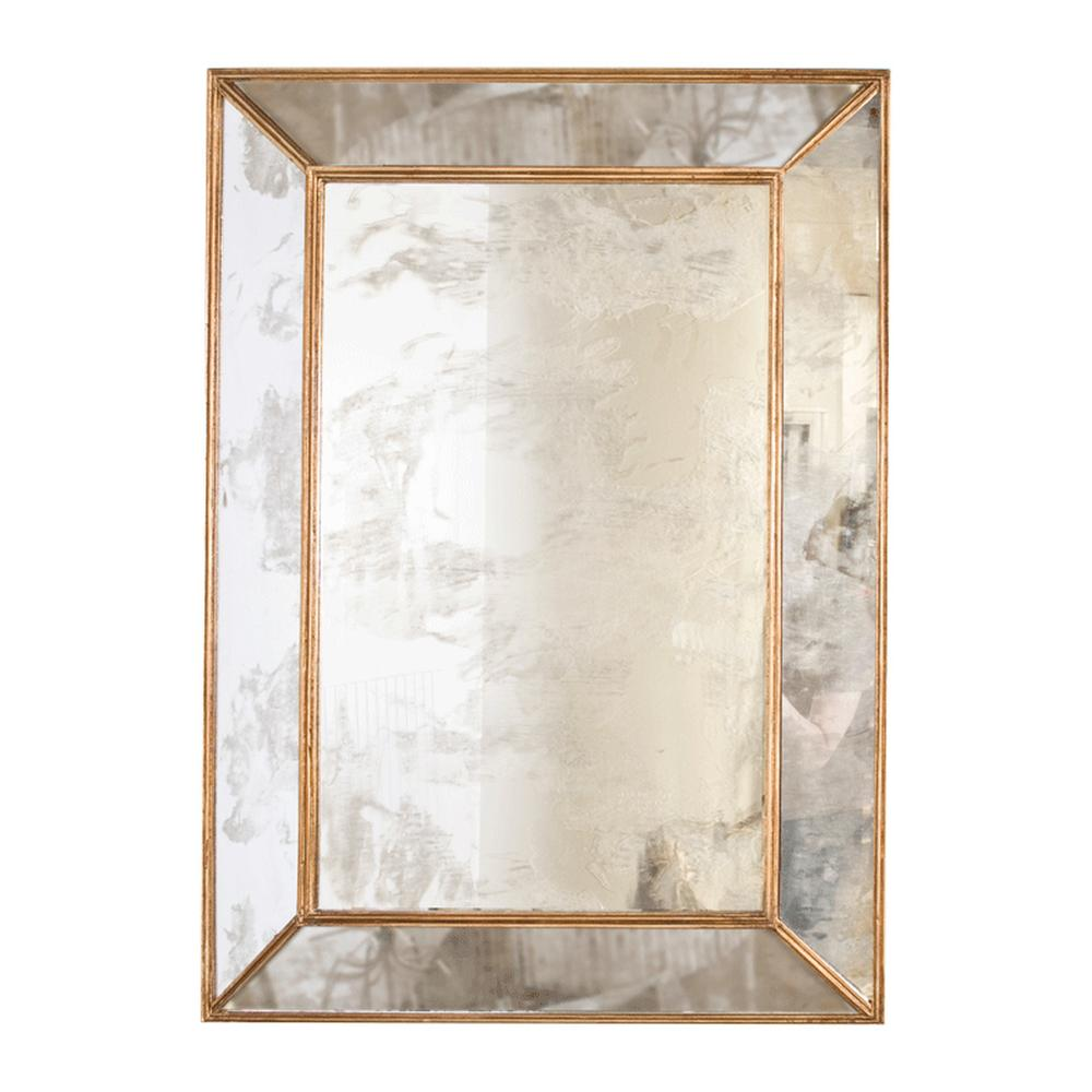 Reflect Serious Style Anywhere You Hang It. Five Antique Mirror Facets Are Expertly Finished With Gold Leaf Edging, Making the Dion Rectangular Mirror A Modern Glamour Essential.