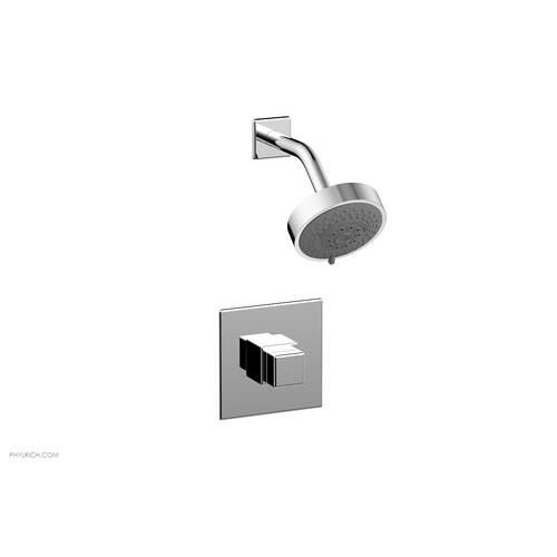 MIX Pressure Balance Shower Set - Cube Handle 290-24 - Polished Chrome