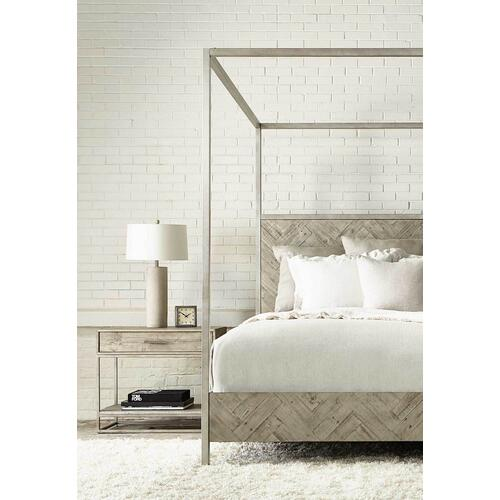 King Milo Canopy Bed in Morel