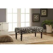 ACME Alysha Bench - 96626 - Zebra Fabric