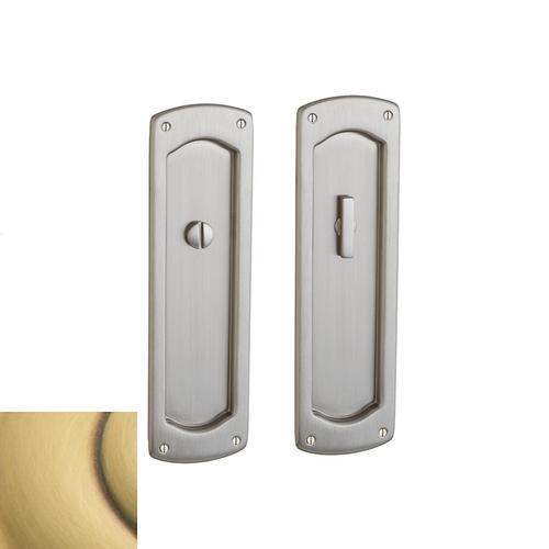 Baldwin - Satin Brass and Brown PD007 Palo Alto Pocket Door