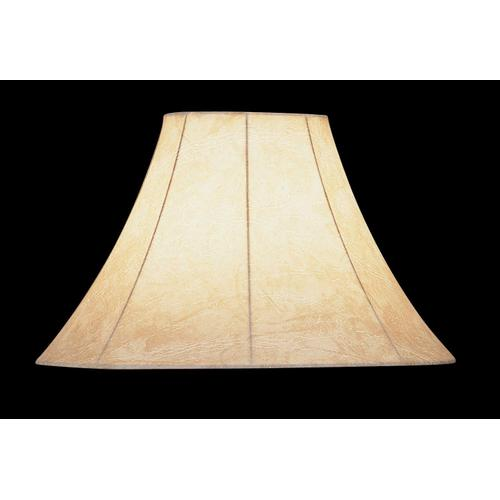 """Lite Source - Faux Leather Bell Shade - 6""""tx16""""bx12""""sl"""