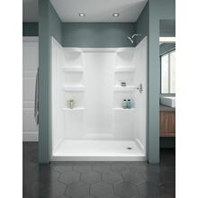 White ProCrylic 60 in. x 32 in. Shower Base Right Drain