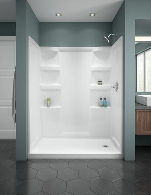 White ProCrylic 60 in. x 32 in. Shower Base Right Drain Product Image