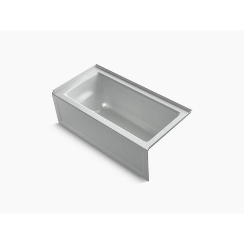 """Ice Grey 60"""" X 30"""" Alcove Bath With Integral Apron, Integral Flange and Right-hand Drain"""