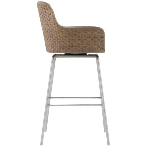 Meade Swivel Bar Stool in Gray Mist