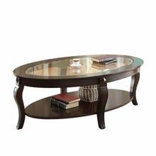 ACME Riley Coffee Table - 00450 - Walnut & Clear Glass