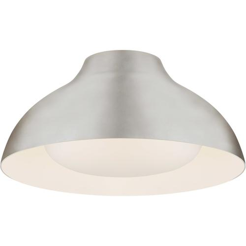 AERIN Agnes LED 15 inch Burnished Silver Leaf Flush Mount Ceiling Light