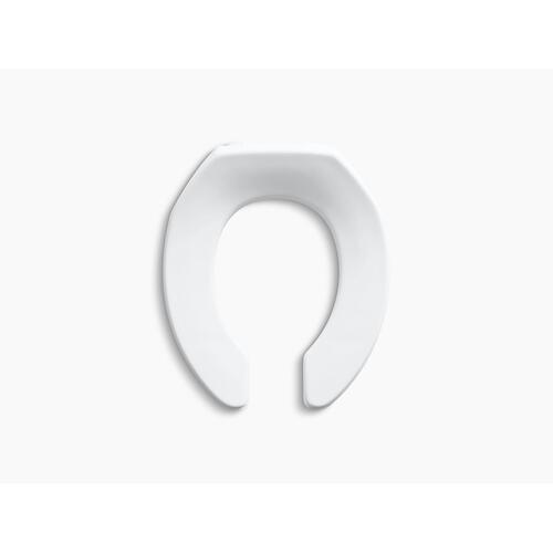 White Round Toilet Seat With Check Hinge