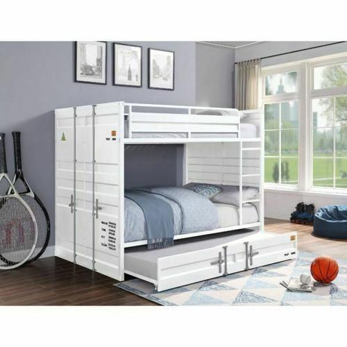 ACME Cargo Bunk Bed (Full/Full) - 37885 - White