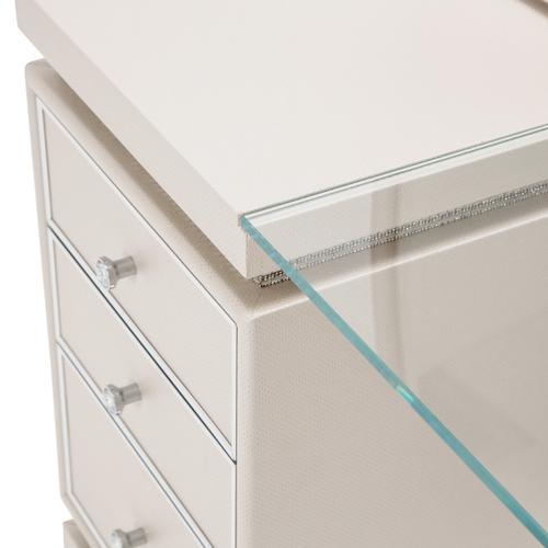 Amini - Vanity Desk Mirror & Bench 3 PC