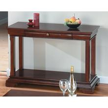 View Product - Sofa Table W/ Shelf and Drawer