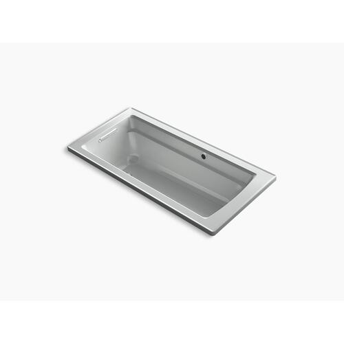 "Ice Grey 66"" X 32"" Drop-in Bath With Bask Heated Surface and Reversible Drain"