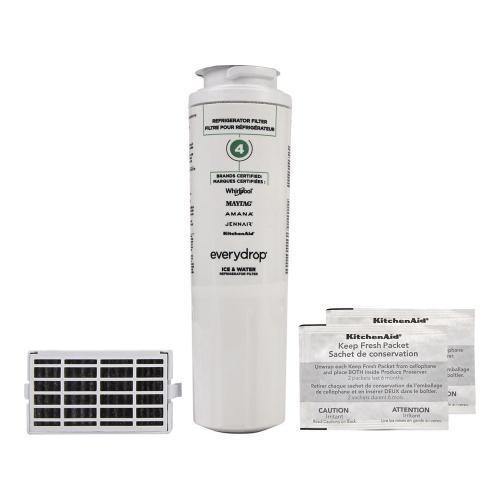 Whirlpool - Everydrop® Refrigerator Water Filter 4 - EDR4RXD1 (Pack Of 1) + Refrigerator FreshFlow™ Air Filter + FreshFlow Produce Preserver Refill