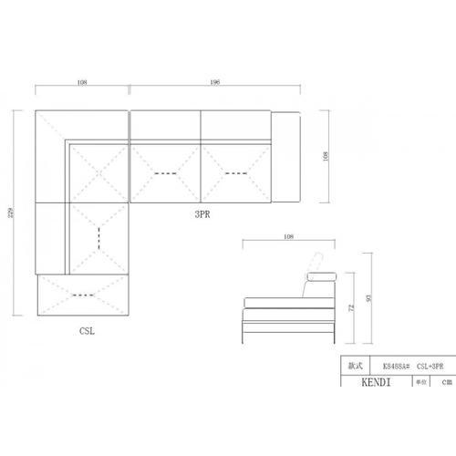 VIG Furniture - Divani Casa Quebec - Modern Light Grey Eco-Leather Left Facing Sectional Sofa