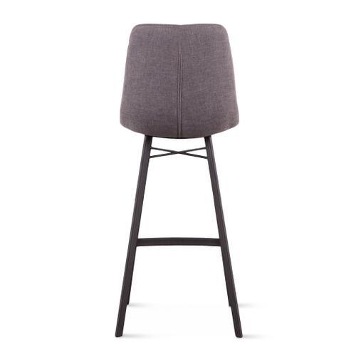 Sam Dark Gray Linen Bar Chair